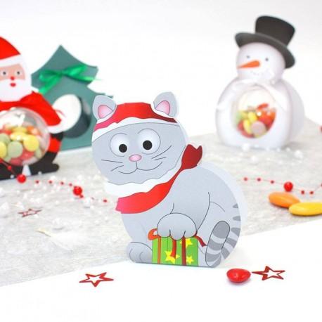 Ballotin à chocolat chat de Noël