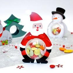 Ballotin petit papa Noël + boule de 6cm