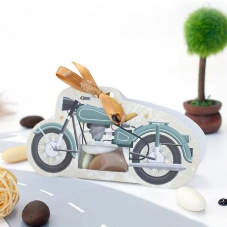 Boîte à dragées Moto vintage