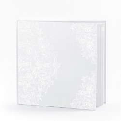 Livre d'or blanc arabesque