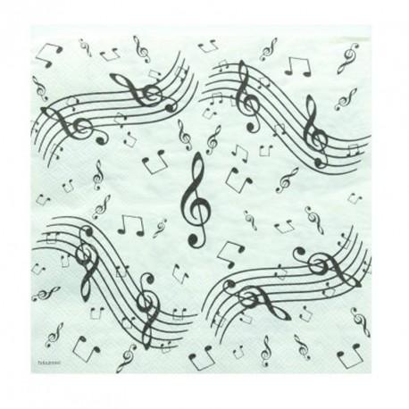 20 serviettes de table  musique