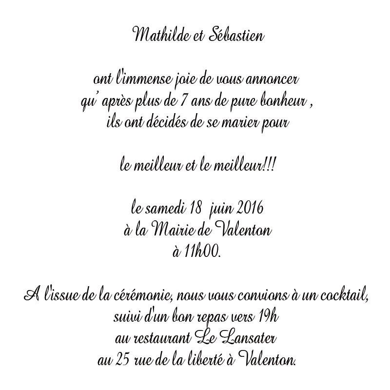 Texte pour invitation pot de mariage