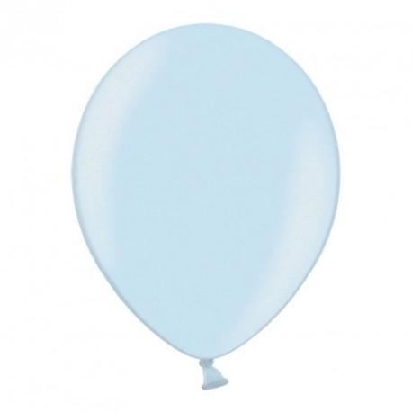 10 ballons 27 cm métallisés bleu ciel