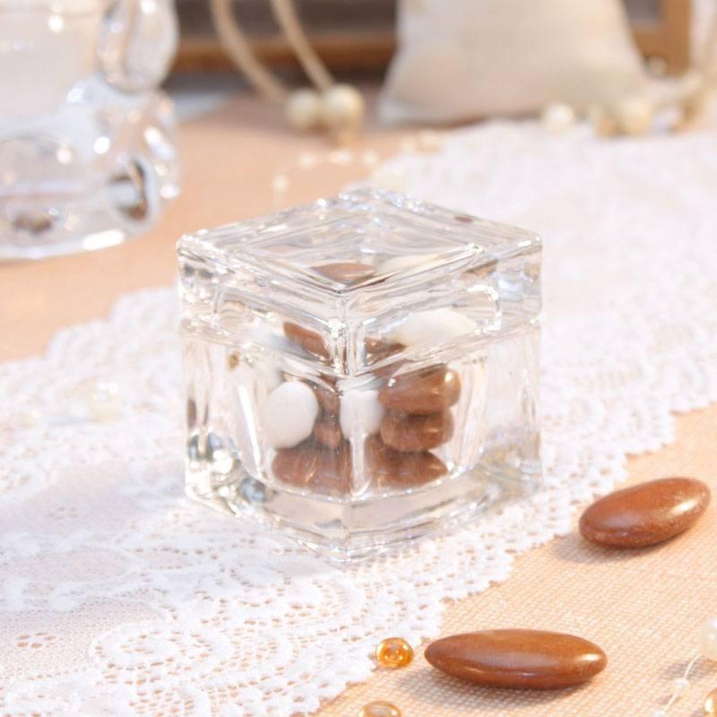 cube drag es en verre haut de gamme pour mariage drag es anahita. Black Bedroom Furniture Sets. Home Design Ideas
