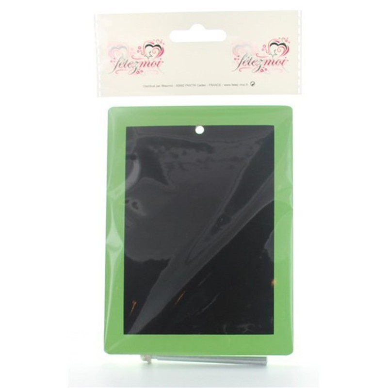 utilisez ce mini tableau en ardoise verte pour vos menu de f tes drag es anahita. Black Bedroom Furniture Sets. Home Design Ideas