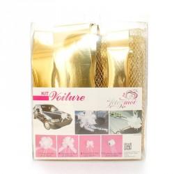 Kit de décoration Or pour voiture de mariage