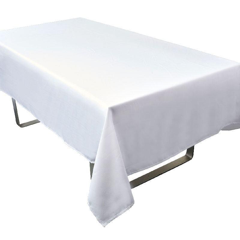 Nappe rectangle blanche tissu pour mariage et f tes - Nappes tissus anti taches ...