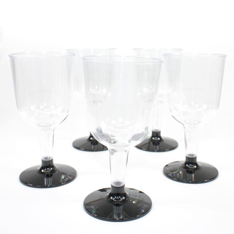 verres vin noirs en plastique jetable drag es anahita. Black Bedroom Furniture Sets. Home Design Ideas