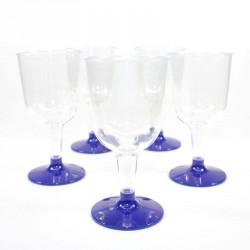 5 Verres à vin marine en plastique jetable
