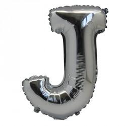 Ballon Lettre J métal argenté 36cm