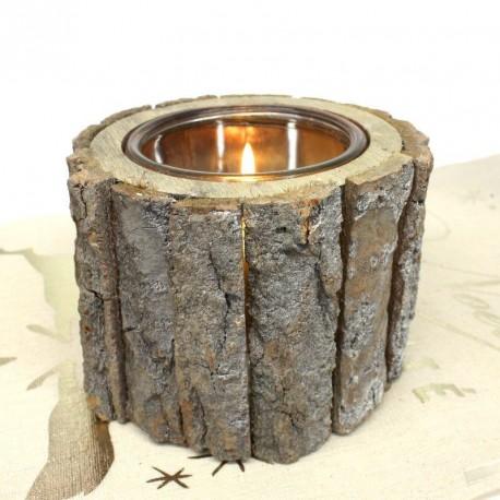 grand bougeoir en rondin de bois drag es anahita. Black Bedroom Furniture Sets. Home Design Ideas