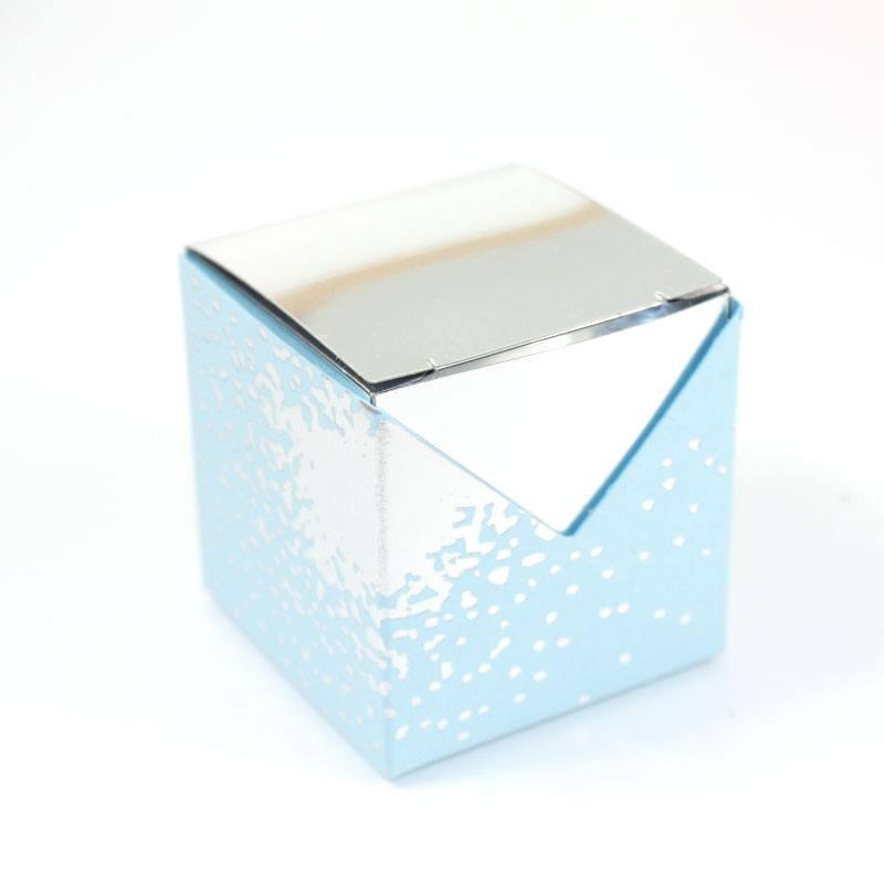 Cubes drag es argent miroir pour mariage et f tes for Cube miroir habitat