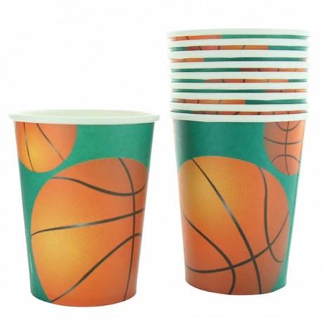 10 Gobelets Basketball en carton pour ravir vos enfants