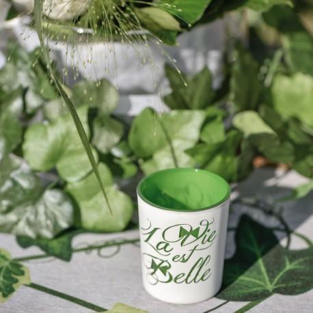 """Photophore """"La vie est belle"""" combinant décoration et atmosphère chaleureuses"""