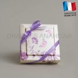 Contenant à dragées  papillon violet