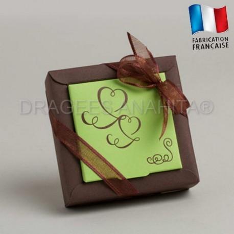 Contenant à dragées thème chocolat anis contenant à dragées mariage