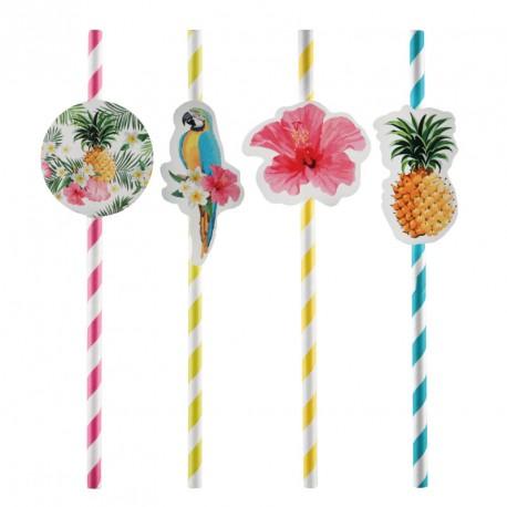 8 pailles thème Tropical originales qui amuseront petits et grands