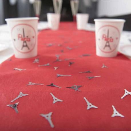 Confettis Tour Eiffel thème Paris idéals pour décorer les chemins de table de couleur unie