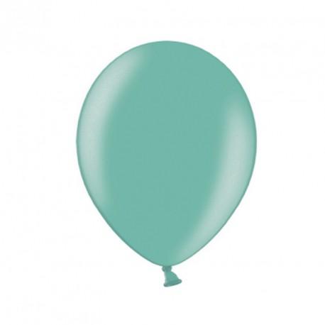 10 Ballons 27 cm métallisés Menthe : incontournables éléments de décoration.