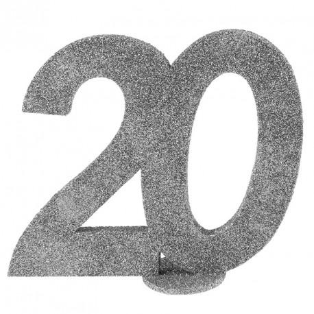 Chiffre Anniversaire 20 ans pour apporter plus d'originalité au décor de votre buffet.