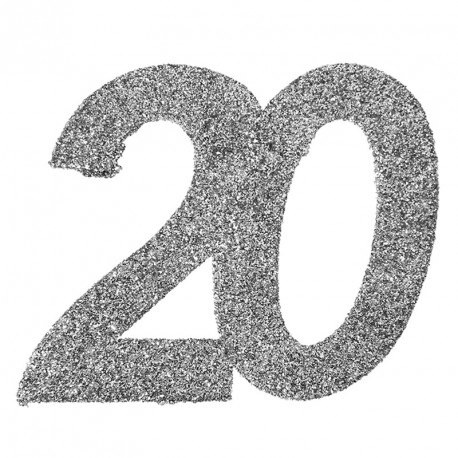 Confetti paillet anniversaire 20 ans exceptionnel - Decoration table anniversaire 20 ans ...