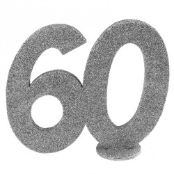 Chiffre Anniversaire 60 ans pour faire scintiller votre lieu de réception.