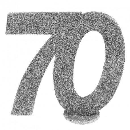 Chiffre Anniversaire 70 ans pour apporter une touche d'élégance à vos tables de réception ou au gâteau d'anniversaire.