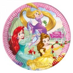8 Assiettes assorties Princesses Disney. 3 princesses dans une seule assiette.