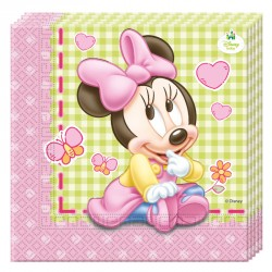 20 Serviettes Baby Minnie pour bien fêter l'anniversaire de votre fille