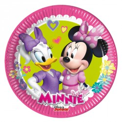 8 Assiettes Minnie et Daisy 20 cm très résistantes. Parfaites pour un goûter d'anniversaire.