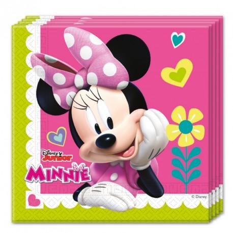 20 Serviettes Minnie 33x33cm très colorées. Pratiques et très résistantes.