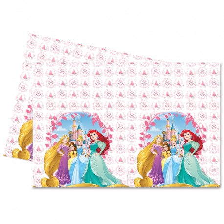Nappe Princesses Disney en plastique 120x180cm. Finition et impression impeccables.