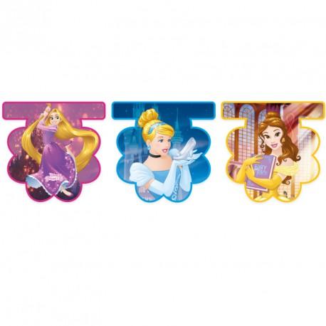 Guirlande Princesses Disney à suspendre avec 3 silhouettes de princesses différentes.