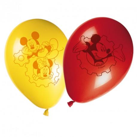 8 Ballons Mickey Assortis pour une fête colorée.