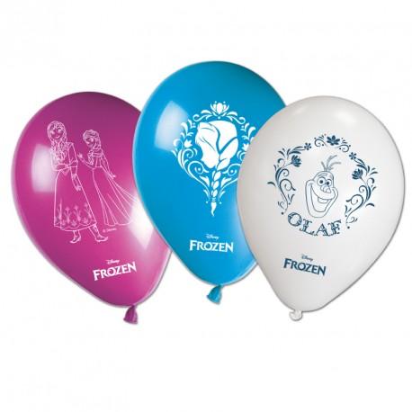 8 Ballons La Reine des Neiges assortis. Idéals pour une bonne décoration de salle.