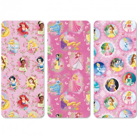 Papier Cadeau Princesses Disney 200x70cm pour les plus beaux des cadeaux d'anniversaire.