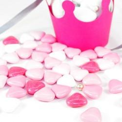 Coeur au chocolat assortiment de rose 500gr