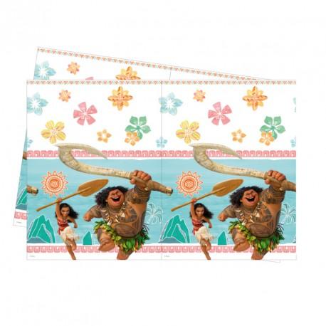 Nappe Vaiana 120 x 180 cm en plastique très décorative, pratique et réutilisable.