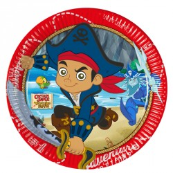 8 Assiettes Jake le Pirate 23 cm pour combler de joie votre petit pirate adoré.