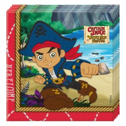 20 Serviettes Jake le Pirate en papier pour plonger votre enfant et ses amis en plein cœur de leur dessin animé préféré.