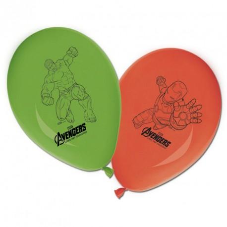 8 Ballons Avengers aux couleurs assorties. Résistants et très décoratifs, aux imprimés soignés.
