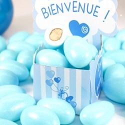 Dragées Amande Bleu ciel 1kg pas cher