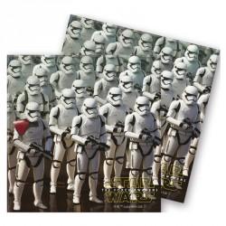 20 Serviettes Star Wars en papier très pratiques pour essuyer les éclaboussures de jus sur la nappe.
