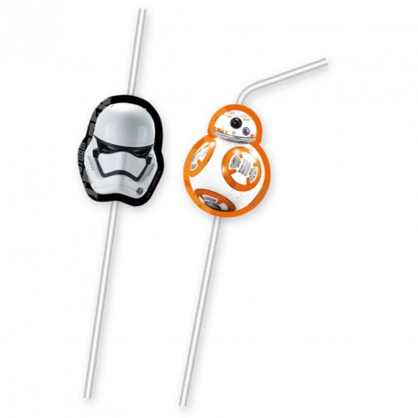 6 Pailles Star Wars pour compléter votre décoration axée sur le thème de la saga.