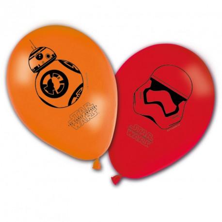 8 Ballons Star Wars pour apporter une touche d'originalité à la décoration d'une salle de fête d'anniversaire.