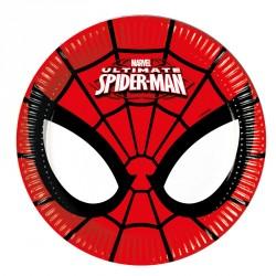 8 Assiettes Spiderman 20 cm pour décorer autrement la table du buffet de l'anniversaire de votre enfant.