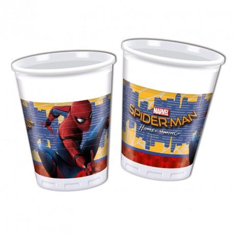 8 Gobelets Spiderman 20cl pour servir les boissons rafraîchissantes à vos invités.