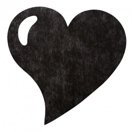 50 Sets de table cœur noir, en tissu non tissé polyester.