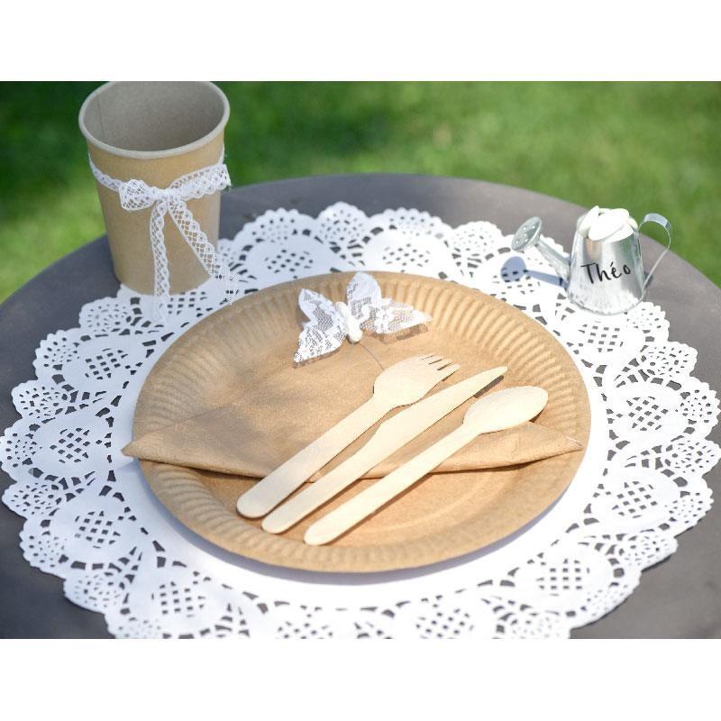 10 sets de table napperon dentelle blancs pour tables de mariage drag es anahita. Black Bedroom Furniture Sets. Home Design Ideas