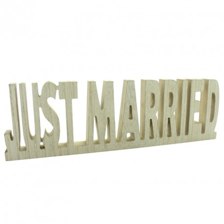 Just Married Naturel pour une décoration originale de la table principale.